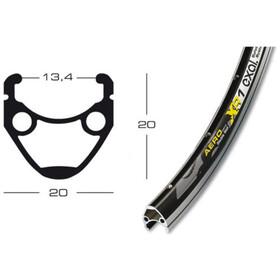 Exal XR-1 Forhjul 13-622 Tiagra QR, black
